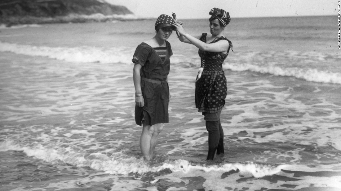 """The story really starts with the shift from bathing in Victorian times to swimming,"" Nothdruft says. ""There was this movement toward more activity, and particularly women being able to be more active."""