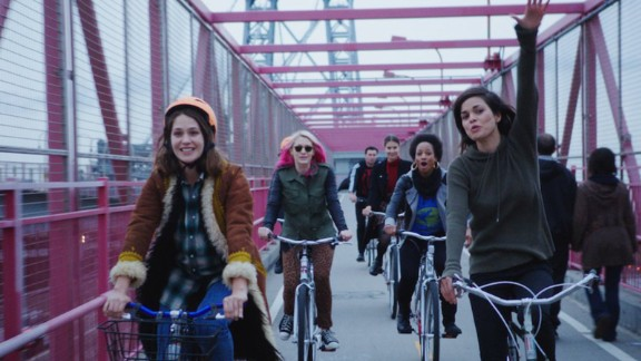 """""""Free the Nipple"""" (2014): Lina Esco and Lola Kirke star in this comedy based on the real-life movement to decriminalize women going topless. (Netflix)"""