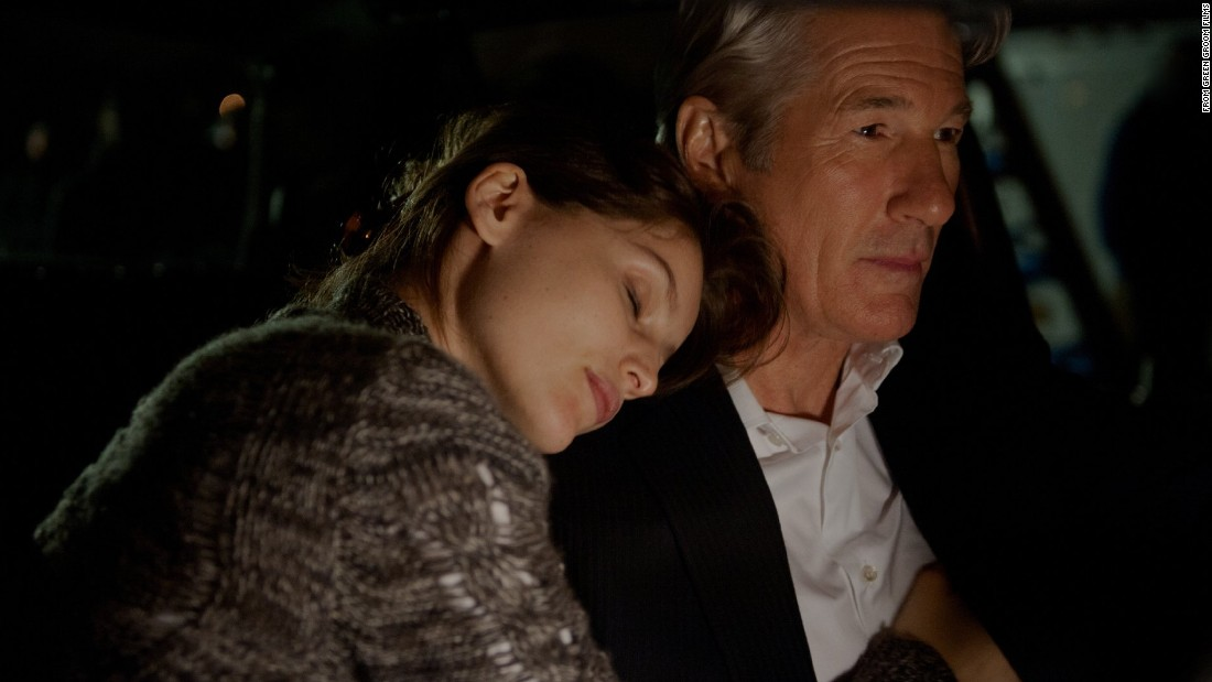"Financier Richard Gere, then 63, and Laetitia Casta, 34, in ""Arbitrage."" She played his mistress."