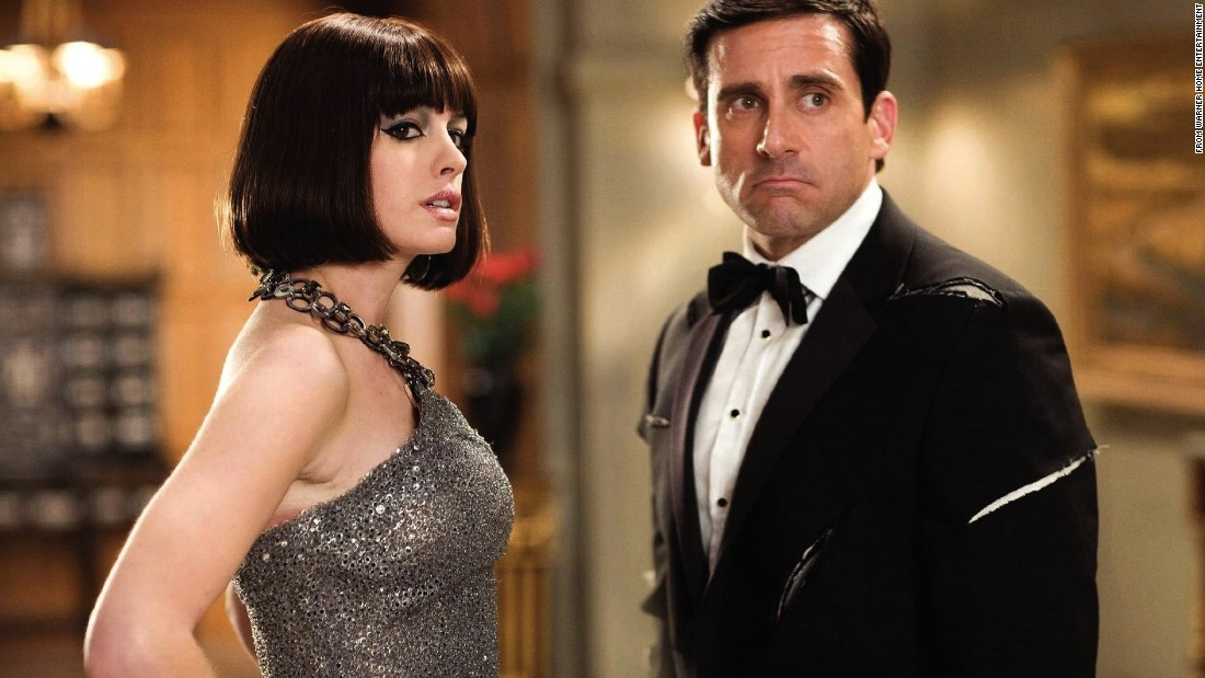 "Steve Carell was 45 when he co-starred with Anne Hathaway, then 25, in ""Get Smart."""