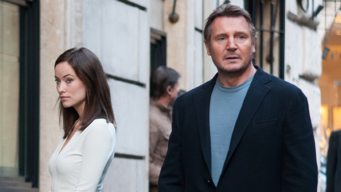 "There was a 32-year age gap between Liam Neeson, then 61, and on-screen lover Olivia Wilde, 29, in ""Third Person."" Maybe that's why they look so disconnected."