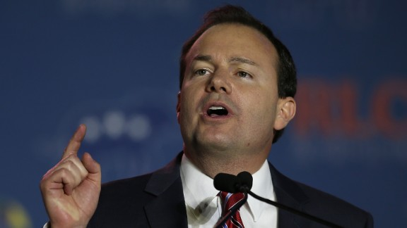 Sen. Mike Lee, R-Utah, speaks during the 2014 Republican Leadership Conference on May 30, 2014 in New Orleans.