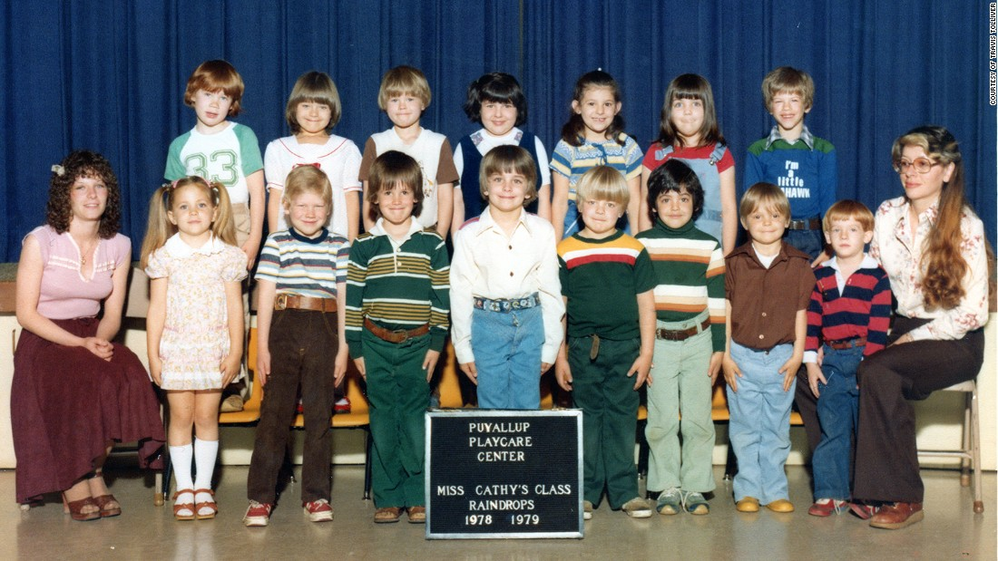 Travis Tolliver -- third child from the right in the front row -- attended preschool in Washington state.