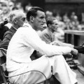 Fred Perry watching Wimbledon 1930s