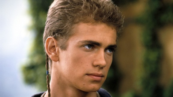 Hayden Christensen as Anakin Skywalker in Star Wars: Episode II -- Attack of the Clones, before giving into temptation and joining the Dark Side as Darth Vader.