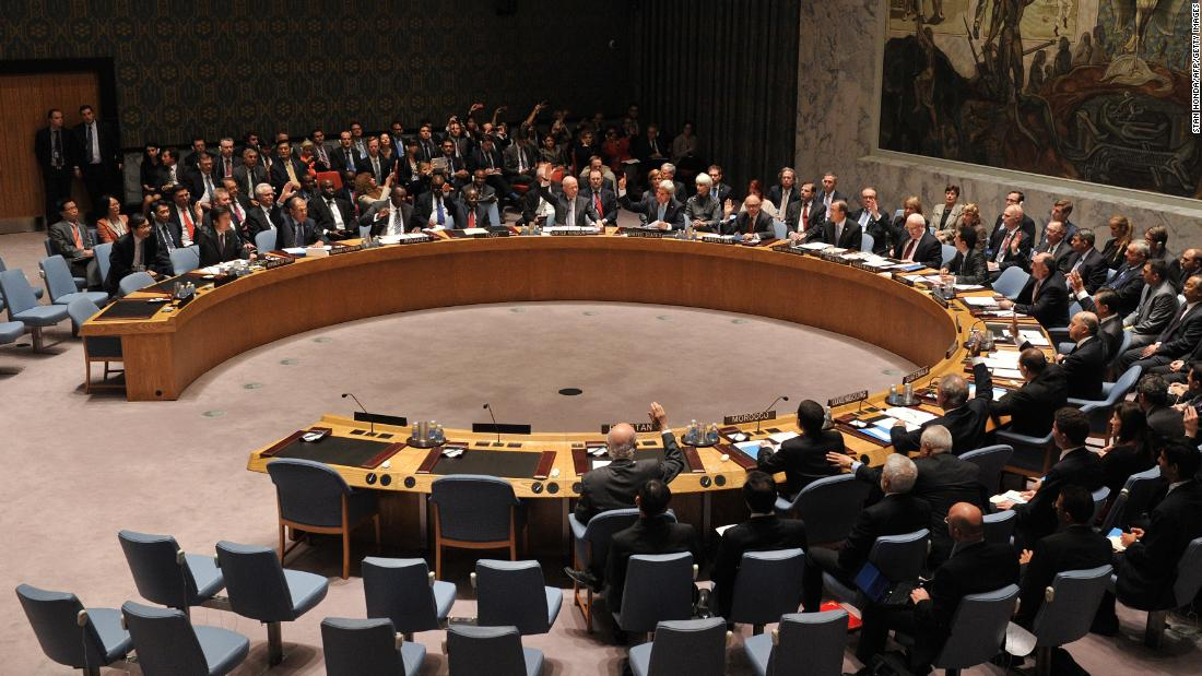 The UN Security Council passes a resolution September 27, 2013, requiring Syria to eliminate its arsenal of chemical weapons. Al-Assad said he would abide by the resolution.