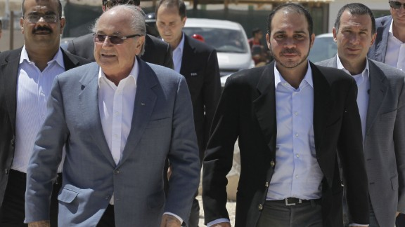 Blatter is currently seeking another term at the head of FIFA. His only challenger is FIFA Vice-President Prince Ali bin al-Hussein from Jordan (right) although Blatter is widely expected to win.