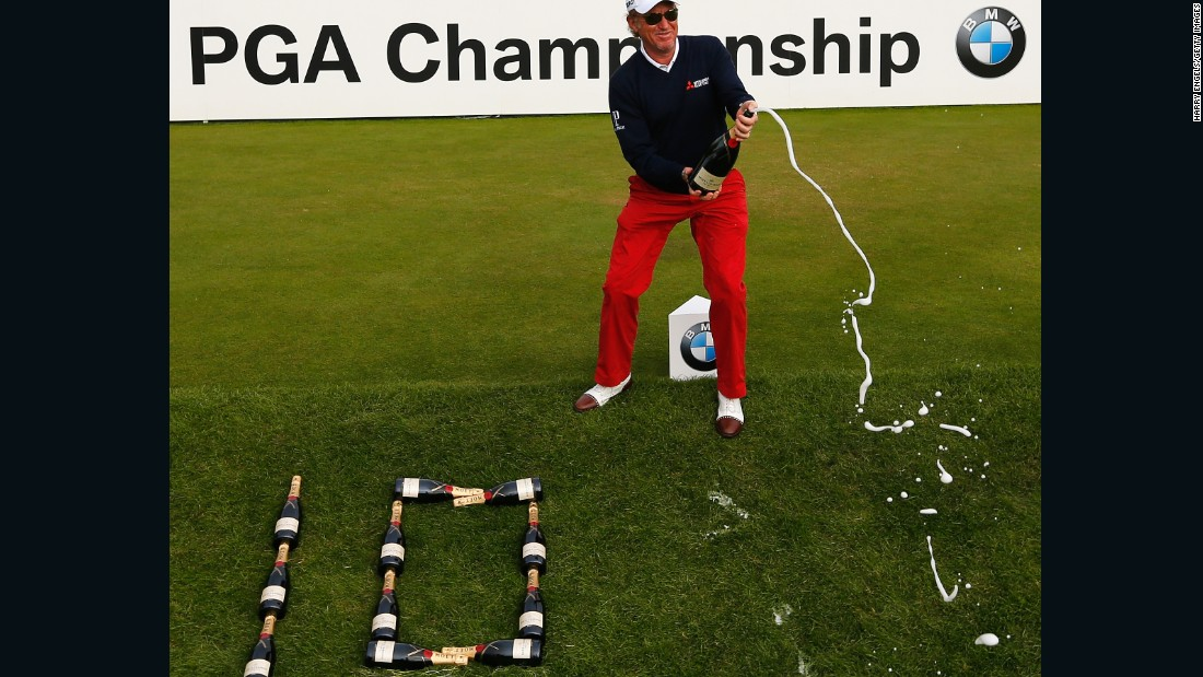 Miguel Angel Jimenez notched up his 10th hole in one in the third round of the BMW PGA Championhip,  setting a European Tour record.
