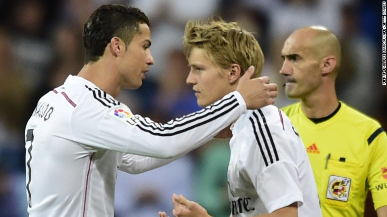 Martin Odegaard Became Real Madrids Youngest Debutant When He Replaced World Player
