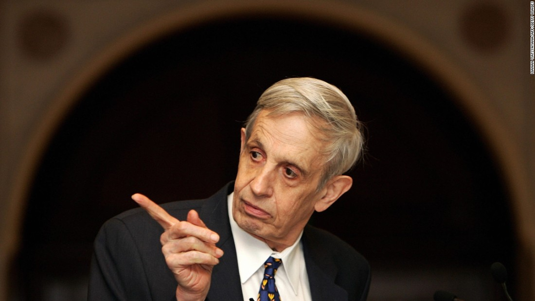 "<a href=""http://www.cnn.com/2015/05/24/us/feat-john-nash-wife-killed/index.html"" target=""_blank"">John Forbes Nash Jr.</a>, the mathematician whose life inspired the film ""A Beautiful Mind,"" died in a car crash with his wife, Alicia, on May 23. He was 86."