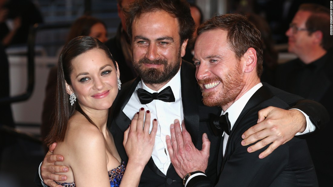 "(From right) Actor Michael Fassbender, director Justin Kurzel and actor Marion Cotillard attend the ""Macbeth"" premiere.  While many critics lavished praise on the performances, Fassbender mumbled the Bard's lines so much that many complained they were forced to read the French subtitles to understand what he was saying."