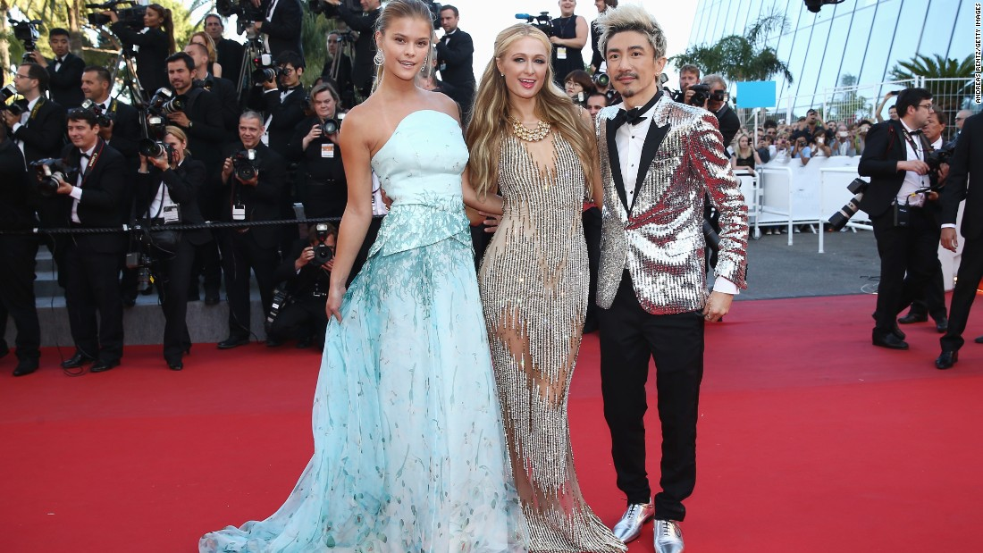"(Left to right) Nina Agdal, Paris Hilton and Sun Zu Yang attend the premiere of ""Inside Out"" -- a highly-acclaimed film that didn't make the competition."