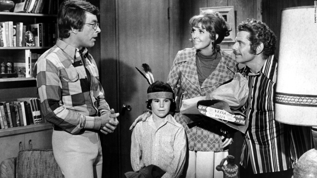 "Meara made an appearance with Jerry Stiller in the TV series ""Courtship of Eddie's Father,"" along with Bill Bixby, left, and Brandon Cruz."