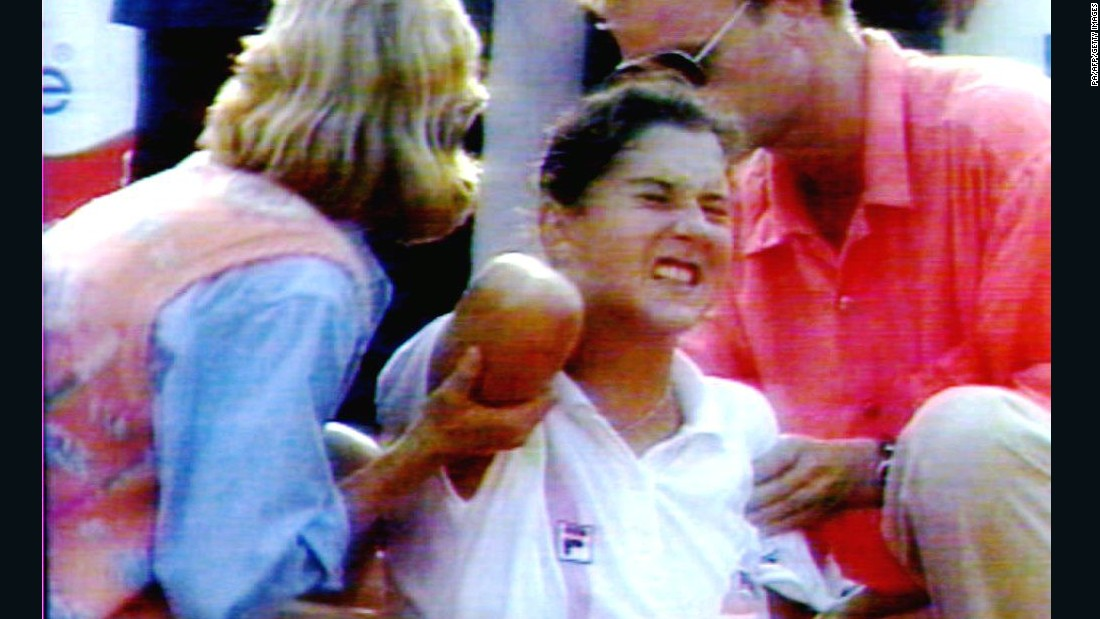 The most infamous court invasion was in 1993, when women's No. 1 Monica Seles was stabbed by a fan of her rival Steffi Graf. Seles retired from playing for two years and could not repeat her previous success when she returned.