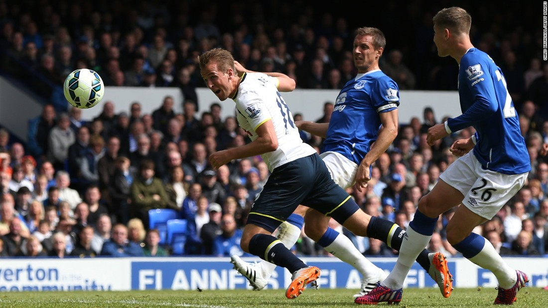 Young England striker Harry Kane capped his breakthrough season with his 21st goal  in the league -- putting him second behind Aguero -- as Tottenham won 1-0 at Everton to finish fifth above Liverpool.
