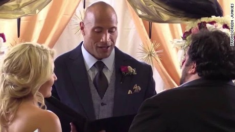 Dwayne The Rock Johnson officiates wedding Daily Hit Newday _00002918