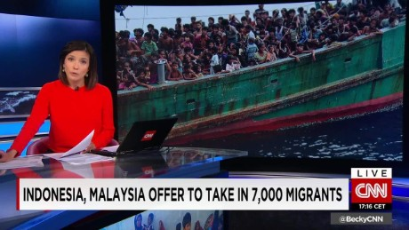 Indonesia, Malaysia offer to take in 7,000 migrants