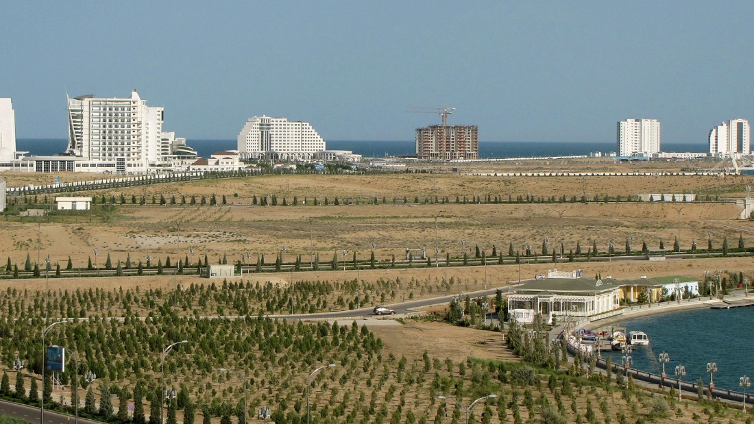 Turkmenistan hopes to turn the Caspian Sea resort of Avaza into a water sports hub.