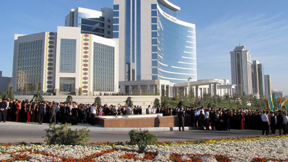 The Bouygues group also built the Hotel Oguzkent in Ashgabat.