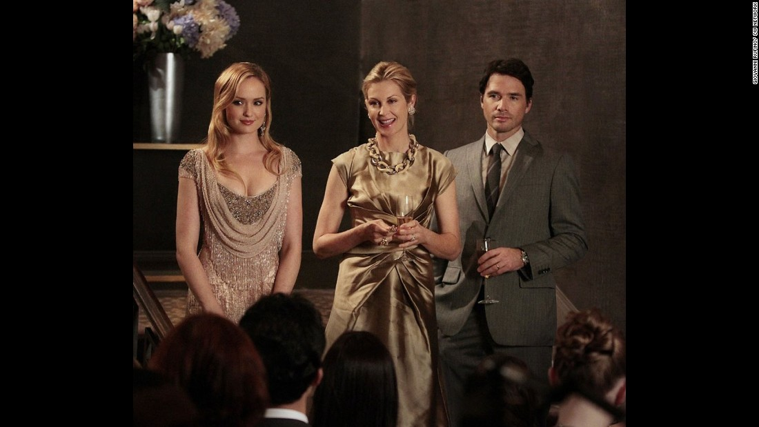 "Rutherford, center, in a scene from ""Gossip Girl."""