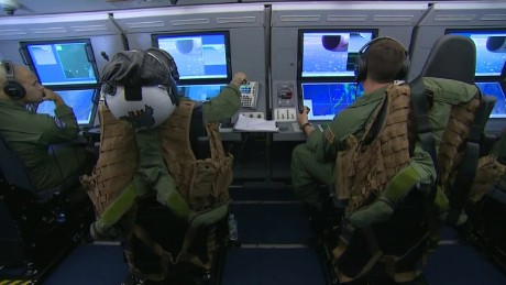 Go inside a U S  Navy P8 surveillance plane