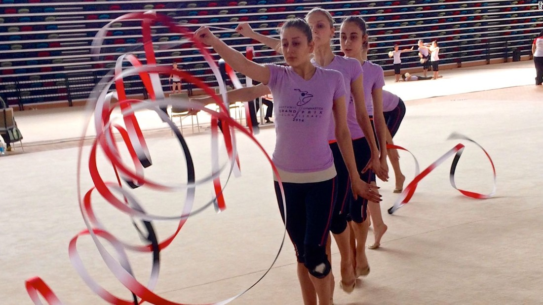 Foreign rhythmic gymnasts have told CNN nothing compares to Azerbaijan's facilities. One New Zealand gymnast said only rugby players could expect facilities like these back home.