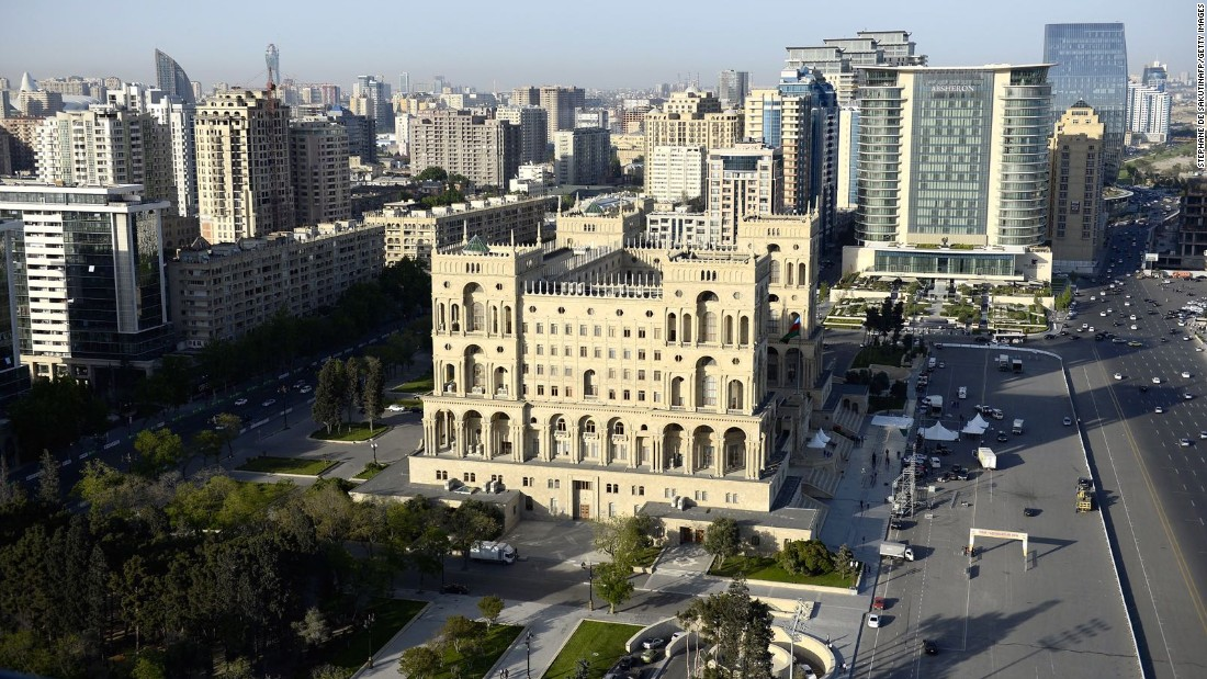 The capital of Azerbaijan, Baku is a busy city perched on the Caspian coast. It will also host a Formula One grand prix in 2016.