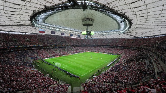 The 58,000 national stadium in Warsaw will host the final between Dnipro and Sevilla. It was built ahead of the 2012 European Championship finals which Poland co-hosted with Ukraine.