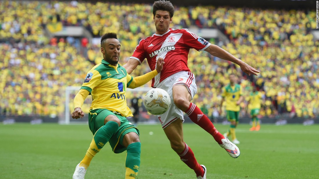 Norwich City and Middlesbrough faced off in the Championship Playoff final at Wembley Stadium in London Monday.