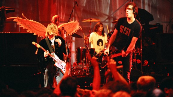 Nirvana performs a gig in front of a hometown crowd in Seattle in 1993.