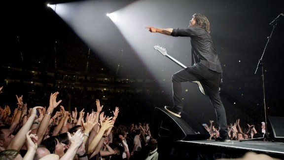 Grohl performs with his band Foo Fighters in Germany in 2011.
