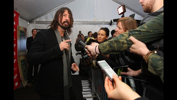 "Grohl arrives at the 2013 Sundance Film Festival for the premiere of his film ""Sound City,"" a documentary about the studio of the same name that recorded several famous artists."