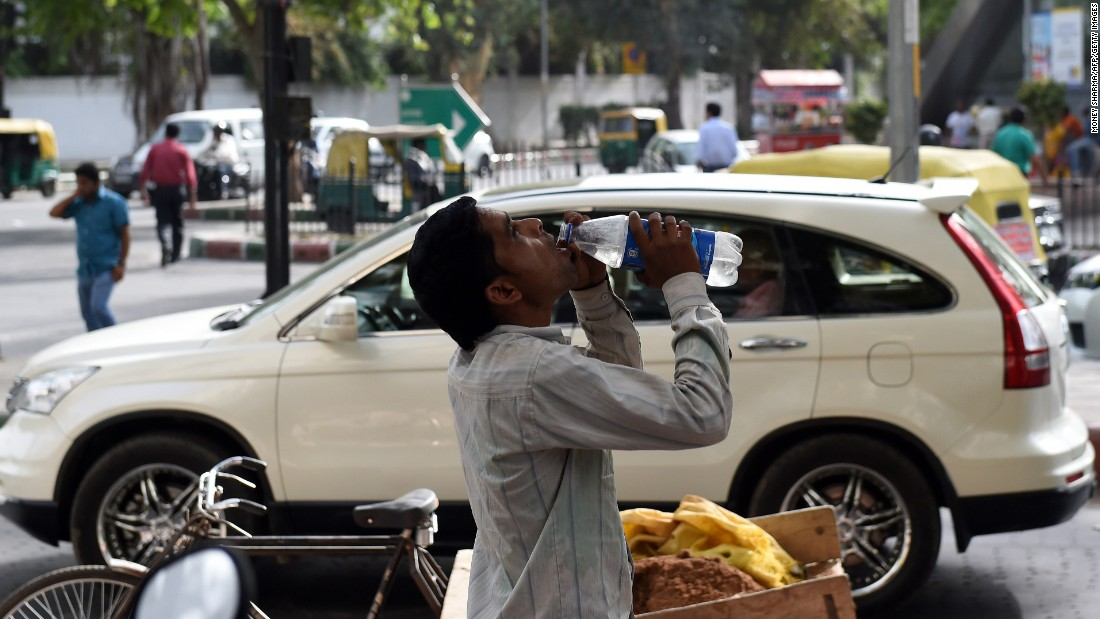 Water is precious as temperatures soar in New Delhi on May 26.