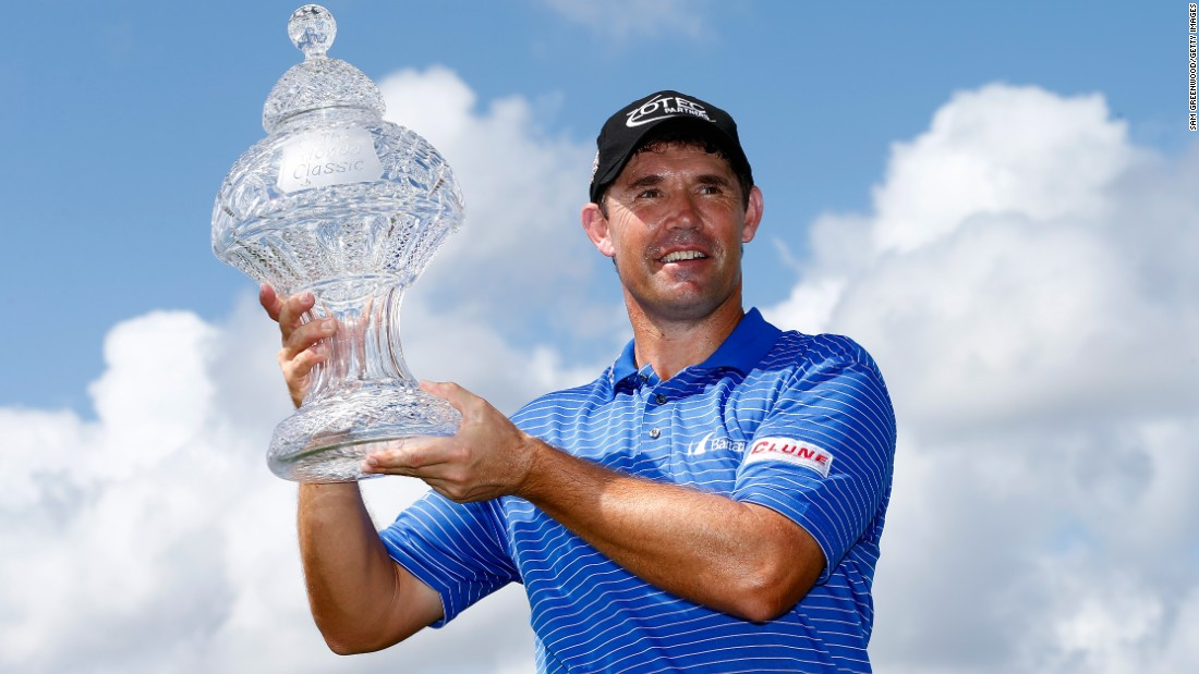 It had been seven years coming -- but Padraig Harrington could celebrate lifting a trophy again when he won the US PGA Tour event at Palm Beach Gardens in March.