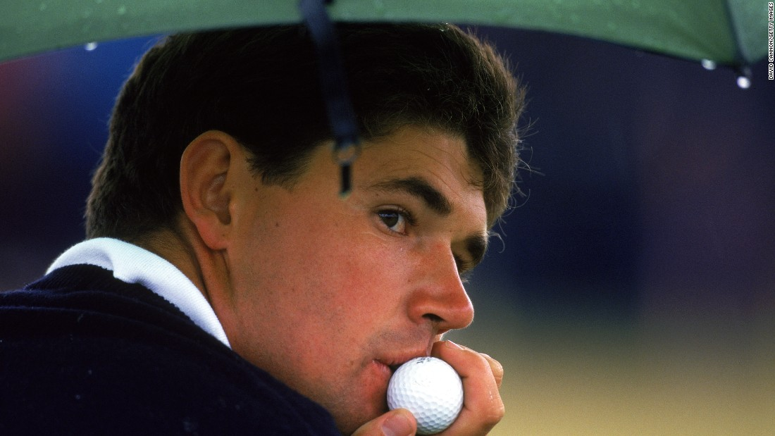 Following a glittering amateur career, which included winning the Walker Cup at Royal Porthcawl in 1995 -- he is pictured in reflective mood at that tournament --  Harrington turned professional in September 1995.