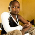 maiduguri -- boy in cast