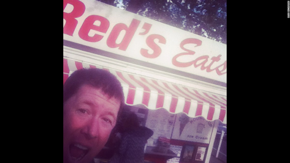 "Comedian Jimmy Dunn posted this selfie on Wednesday, May 20. ""Jimmy travel tip - Try to eat at places with the word 'eat' on the sign,"" <a href=""https://instagram.com/p/26w5Rtvr6j/"" target=""_blank"">he said on Instagram.</a>"