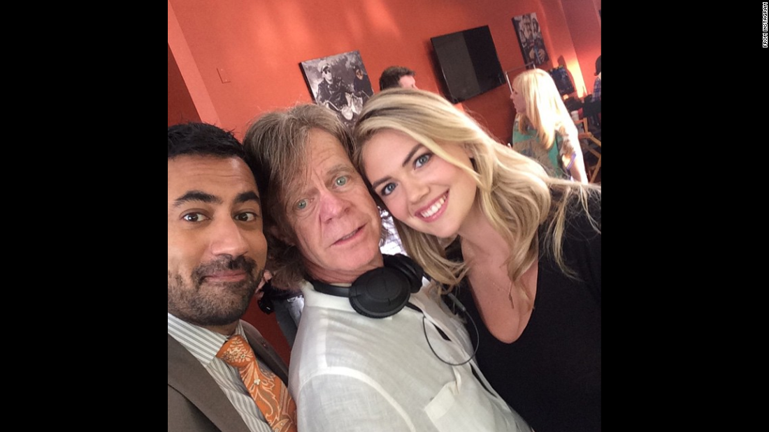 """True or False: the scene we just shot with @kateupton & @williamhmacy included a gunfight, cell phone, and a fart,"" actor Kal Penn, left, <a href=""https://instagram.com/p/265tWks72W/"" target=""_blank"">said on Instagram</a> on Wednesday, May 20."