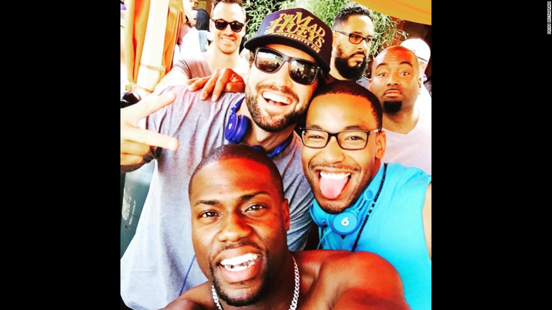 "Television personality Brody Jenner, in the hat, <a href=""https://instagram.com/p/3IY8CRsIFt/"" target=""_blank"">posted this selfie</a> with comedian Kevin Hart, bottom, and deejay Will ""J. Dubb"" Smith on Tuesday, May 26. ""Such good times this weekend at #taobeach with two of the most down to earth people I know,"" Jenner wrote on Instagram."