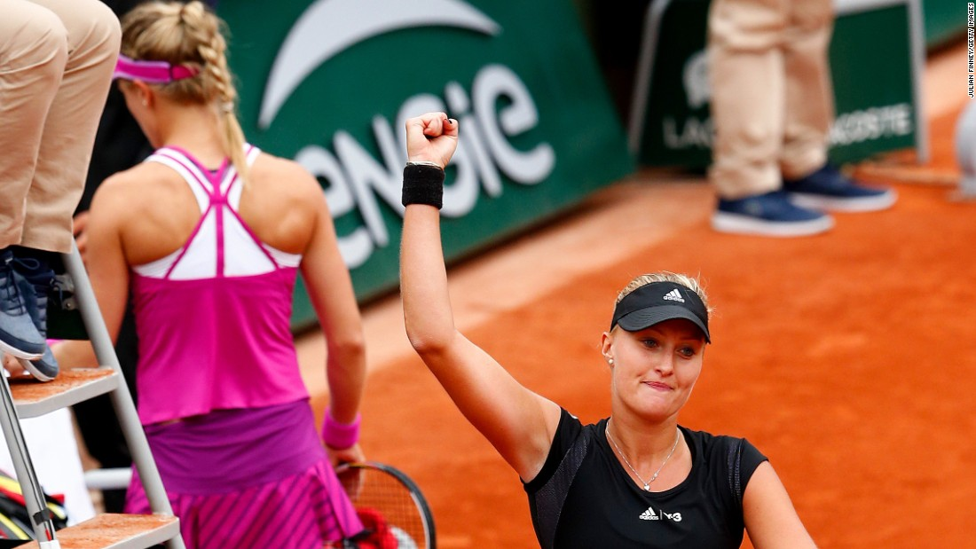 She lost for the eighth time in the last nine matches, ousted in the first round of the French Open Tuesday by Kristina Mladenovic.