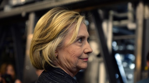 Democratic presidential candidate Hillary Clinton tours the Smuttynose Brewery May 22, 2015 in Hampton, New Hampshire.