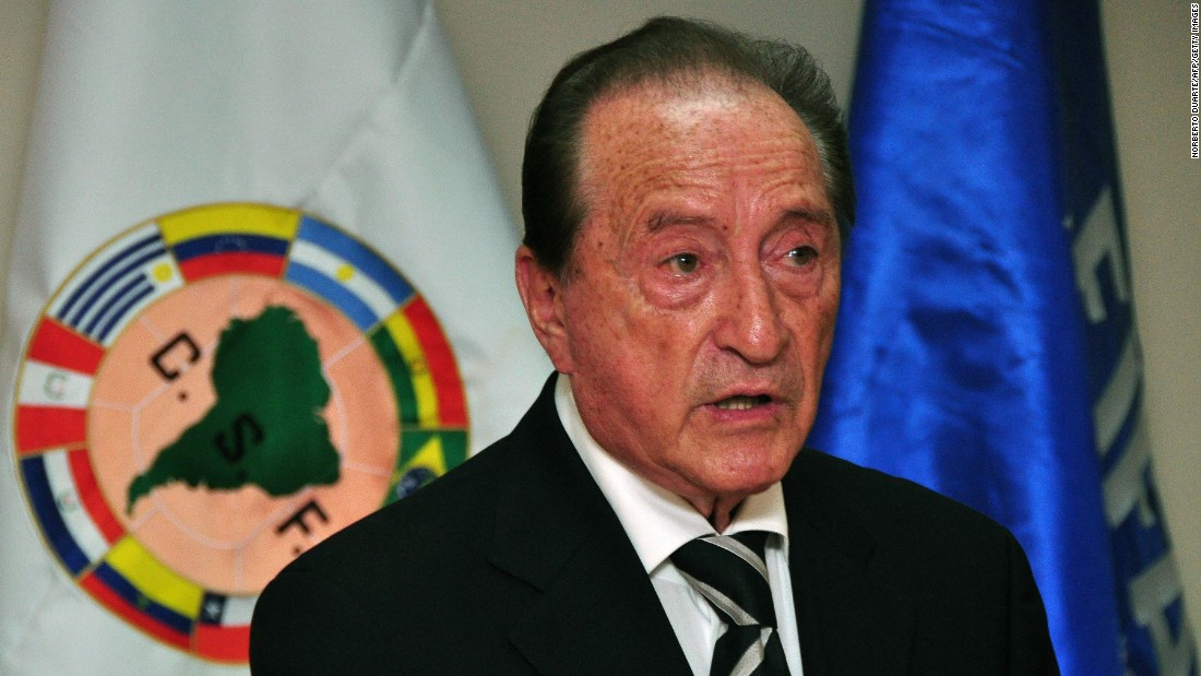 The 83-year-old Uruguayan is a FIFA vice president and executive committee member. Figueredo is a former South American Football Confederation (CONMEBOL) president and ex-Uruguayan soccer federation (AUF) president.