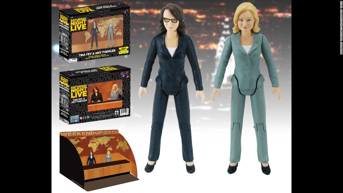 "Comic-Con attendees can re-create their favorite ""Saturday Night Live"" Weekend Update moments, thanks to an exclusive ""SNL"" action figure set with figures of former anchors Tina Fey and Amy Poehler. It even comes with an anchor desk."
