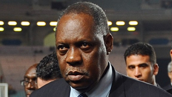 Issa Hayatou from Cameroon (pictured) is one of three FIFA officials -- the others Nicolas Leoz from Paraguay and Ricardo Teixeira from Brazil -- who are named in a BBC program which alleges they took bribes from the International Sports and Leisure (ISL) marketing company who secured World Cup rights in the 1990s. A day later, Hayatou says he is considering legal action against the BBC. All three would have voted on the hosts for the 2018 and 2022 World Cups. The International Olympic Committee