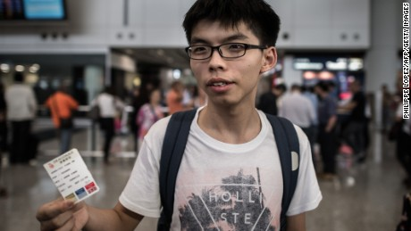 'Younger Games': Hong Kong's Joshua Wong launches new political party.