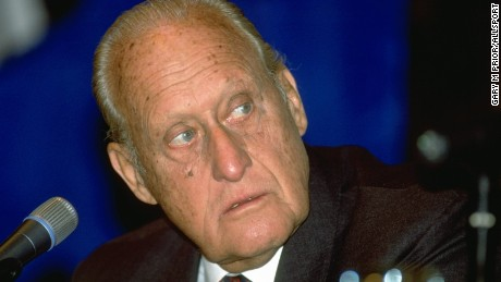 Caption:7 Jan 1996: A portrait of Joao Havelange, the President of FIFA at the the African Cup of Nations tournement in Johannesburg, South Africa. \ Mandatory Credit: Gary M Prior/Allsport