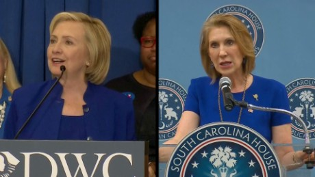 Fiorina follows Clinton around in South Carolina