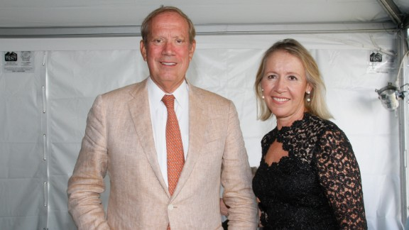 He also served for 10 years in the New York State legislature. From left to right, Pataki and Libby Pataki attend East Hampton Library