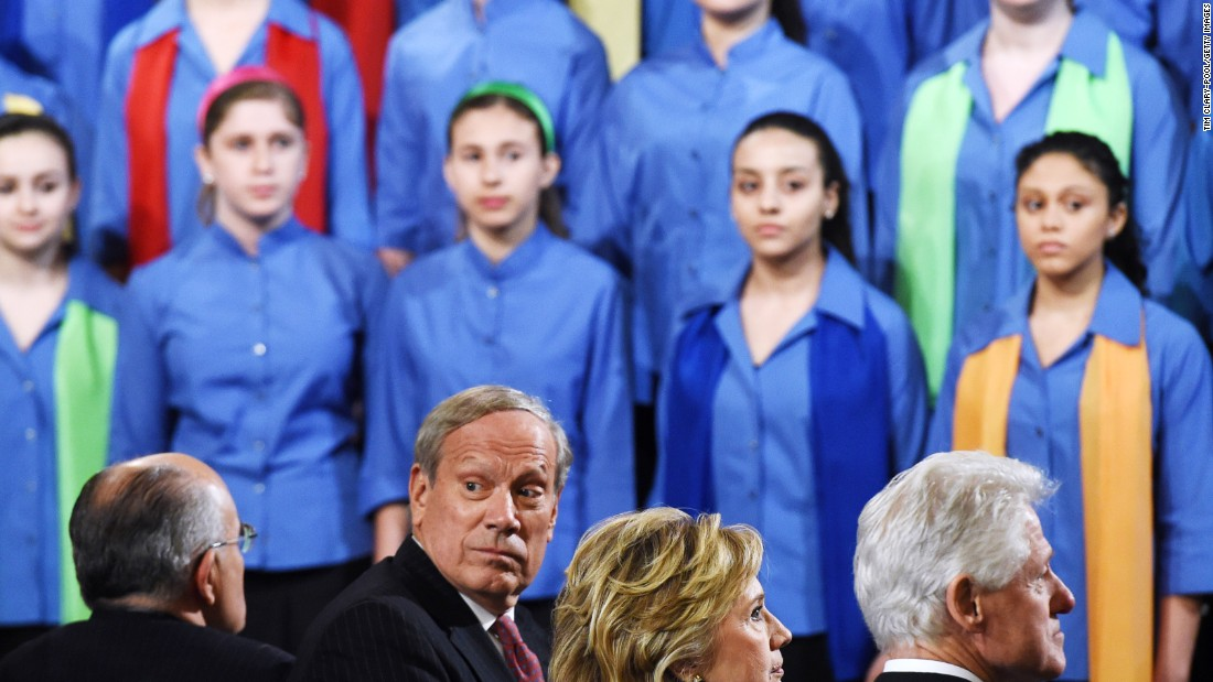 Pataki was elected governor in 1994 and reelected twice after. From left to right, former New York City Mayor Rudy Giuliani, Pataki, former Secretary of State Hillary Clinton and former U.S. President Bill Clinton attend the opening ceremony for the National September 11 Memorial Museum at ground zero May 15, 2014 in New York City.