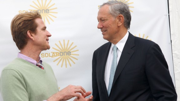 Actor Matthew Modine and Pataki attend Solar One